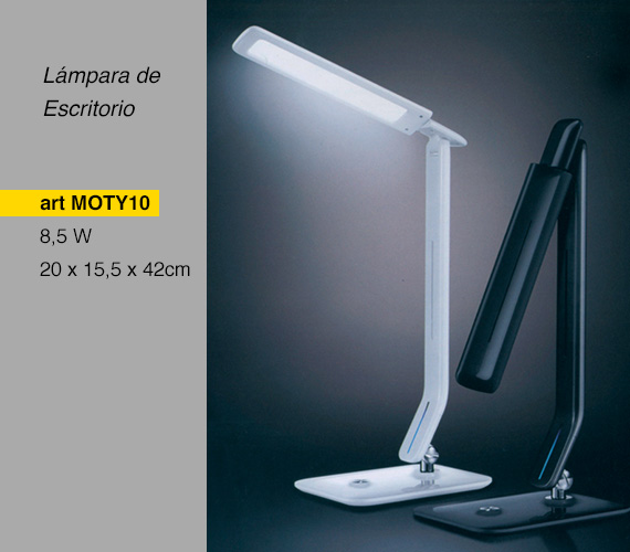 Lámpara de escritorio LED blanca